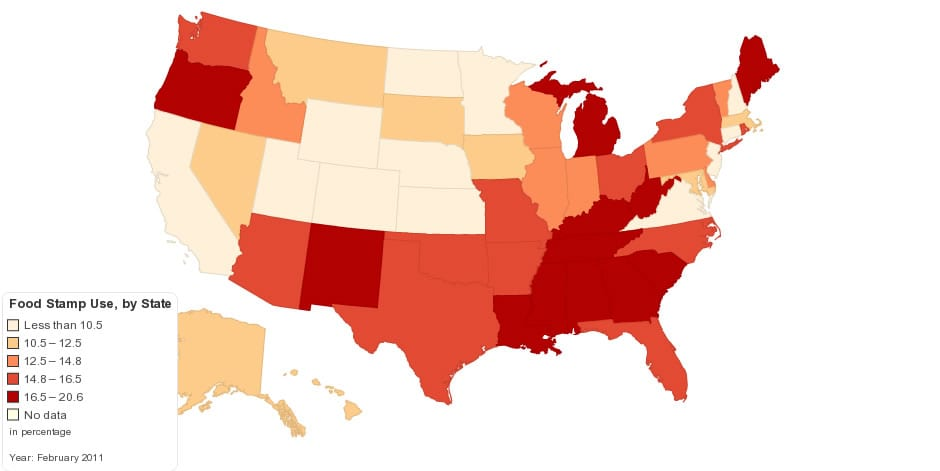 food stamps map